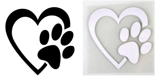 Paw in heart
